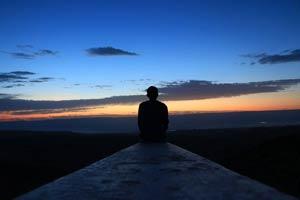 Sitting watching the sunrise