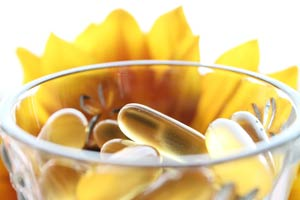 Supplements with flower